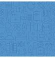 Thin Medical Line Health Care Dark Blue Seamless vector image
