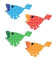 puzzle bird set vector image vector image