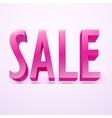 big red 3d letters forming the word SALE vector image