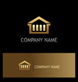 house business gold logo vector image