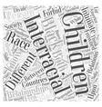Interracial relationships Word Cloud Concept vector image