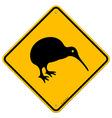 Kiwi Yellow Sign vector image
