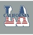 Sport T-shirt Design with letters LA vector image