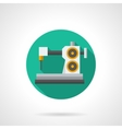 Tailor workshop flat round icon vector image