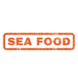 Sea Food Rubber Stamp vector image