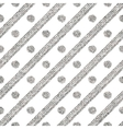 Geometric seamless silver pattern of diagonal vector image