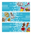 Set of Horizontal Banners about easter vector image
