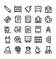 education line icons 1 vector image