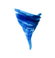 blue tornado in technology style on white vector image