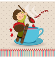 boy with love vector image vector image