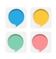 Speech bubbles flat icons vector image