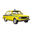 Soviet police car Lada vector image