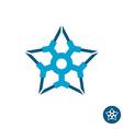 Star tech logo vector image vector image