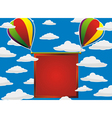 balloons red frame vector image vector image
