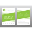 flyer design template Green annual report brochure vector image