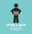 Man Lifting A Crate Symbol vector image