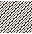 Seamless Black And White Brick Pavement vector image