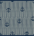 seamless pattern of anchor and stripes vector image