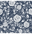 Seamless pattern of white roses vector image