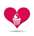 heart red cartoon cupckae chips icon design vector image