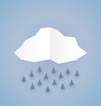 Paper rain vector image vector image