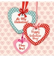 Valentine Day heart shaped greeting card design vector image