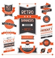 Retro banners Set of labels and stickers vector image