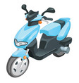 blue color scooter motorbike isolated on white vector image