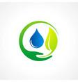 bio leaf pure water logo vector image