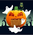 Ghosts and pumpkin house vector image vector image