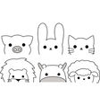 Outline Animals vector image