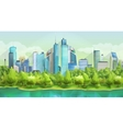 City and nature landscape vector image