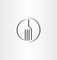stylized fork sign icon logo vector image