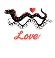 Funny graphic love Moray on white background vector image