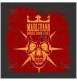 Marijuana Skull on grunge background for vector image