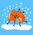 pillow fight vector image