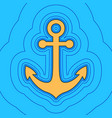 anchor icon sand color icon with black vector image