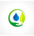 bio leaf pure water logo vector image