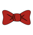 bown ribbon decorative icon vector image
