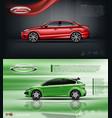 digital red model sedan car vector image