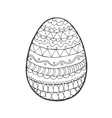 Easter egg with ornaments vector image