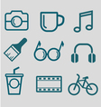 flat icon for hipster lifestyle vector image