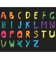 Hand drawn child English alphabet Color Bold vector image