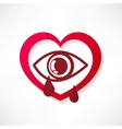 heart eye design vector image
