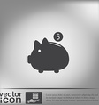 piggy bank symbol of money vector image