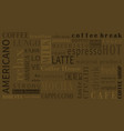 sorts of coffee background with different vector image