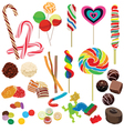 set of different chocolates vector image vector image
