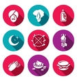 Set of Fire Show Icons Fakir Flame Fuel vector image