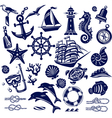 Summer sea icons vector image