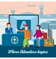 Airport background in flat style Travel vector image